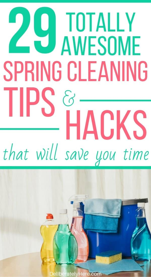 29 totally awesome time saving spring cleaning hacks for 2019. Home spring cleaning hacks and ideas for people who like to DIY. The best spring cleaning tips and tricks to declutter and organize your home. Easy spring cleaning tips.