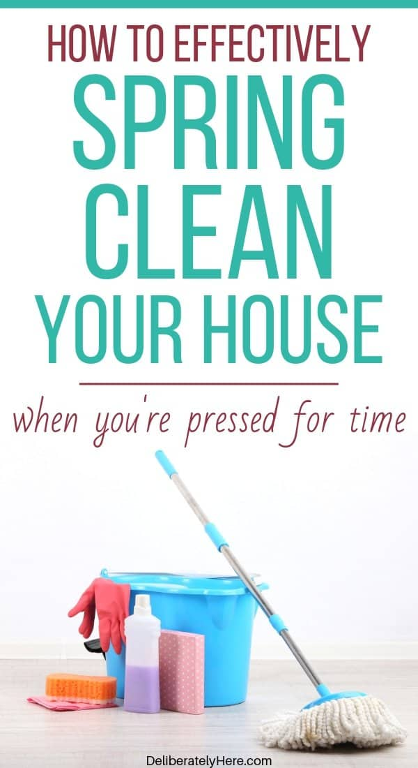 6 tips to help you spring clean your house fast. How to spring clean your house fast. How to spring clean your home in one day. Free printable spring cleaning checklist. How to start spring cleaning when your house is a mess. How to clean your house when you're overwhelmed by the mess. House cleaning checklist for busy moms. Easy tips to spring clean your house today.
