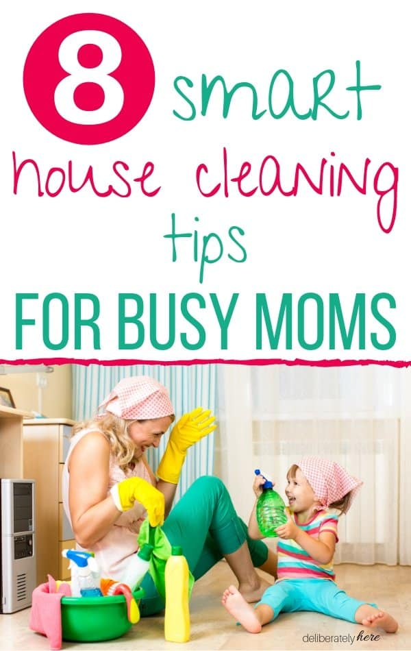 house cleaning tips for moms