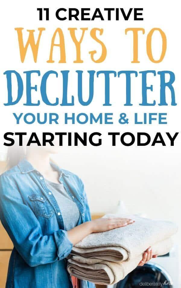 homemaker decluttering home