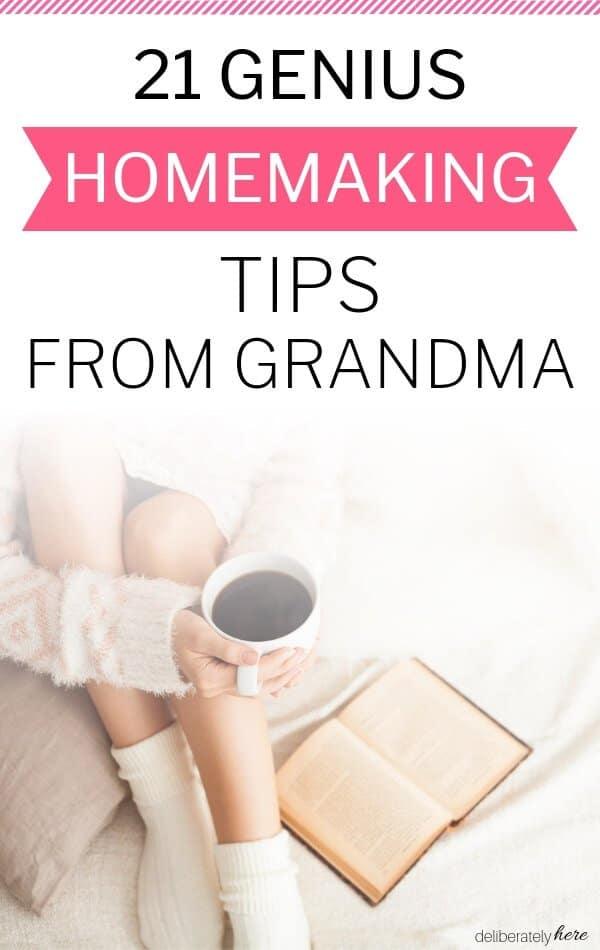 homemaking tips from grandma
