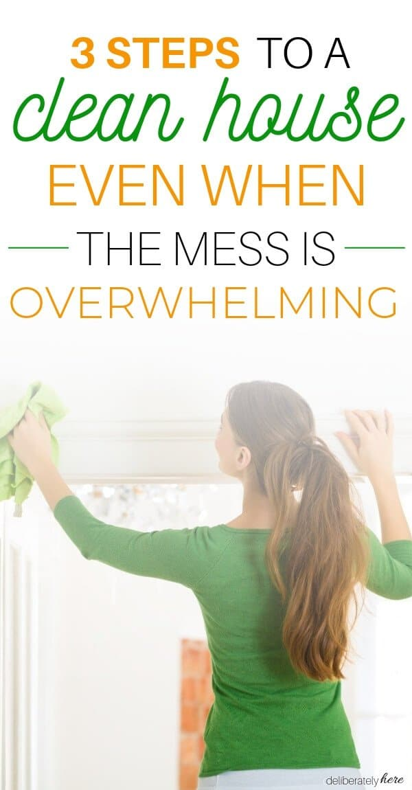 how to clean a disgusting house when the mess is overwhelming