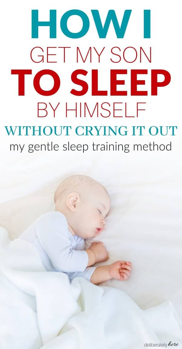 how to get your baby to sleep by themselves baby sleeping on bed by himself
