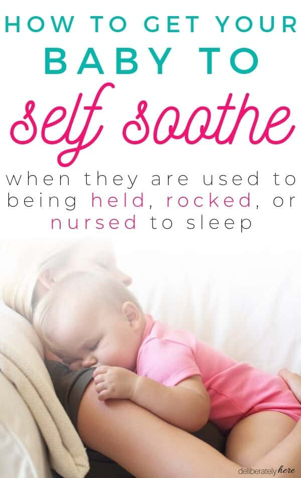 How to get your baby to self soothe baby sleeping on moms shoulder