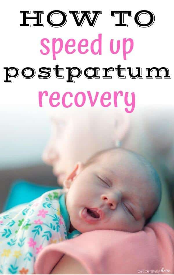 new mom learning about postpartum recovery
